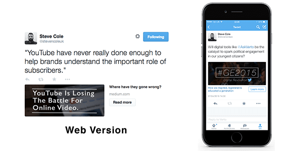twitter card examples